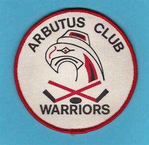 "Arbutus Warriors Hockey Club Vancouver Canada 4"" Patch 1970s-1980s youth minor"