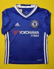 5+/5 CHELSEA 2016~2017 ORIGINAL FOOTBALL HOME JERSEY SHIRT ADIDAS BOYS 7-8 YEARS
