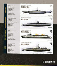 Micronesia 2015 MNH Submarines General Mola HMS B1 4v M/S II Boats Ships Stamps