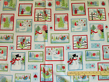 Holiday Cheer Snowmen Christmas Henry Glass Fabric  by the 1/2 Yard #9689