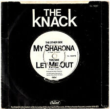 """THE KNACK - MY SHARONA / LET ME OUT - 7"""" 45 VINYL RECORD PIC SLV"""