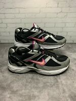 Women's Nike Silver/Black with Pink Swoosh Running Shoe Size 9.5 328308-061
