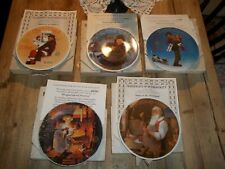 Knowles Norman Rockwell Santa Christmas Collector Plates Lot of 5 Plates