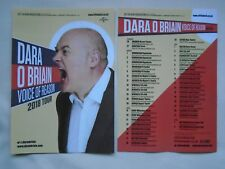 "DARA O BRIAIN Live theatre event ""Voice of Reason"" 2018 UK Tour promo flyers x 2"