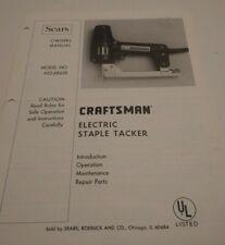 Craftsman Electric Staple Tacker Manual 652-68420