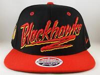 Chicago Blackhawks NHL Zephyr Snapback Hat Cap Razzle