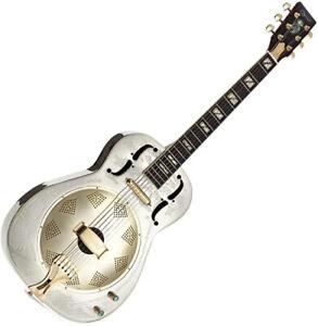 Resonator Guitar Electro Acoustic Nickel plated thinline Brass body by Ozark