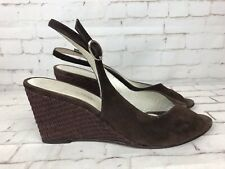 Russell & Bromley Women's Brown Suede Wedges Shoes Sandals Size 39.5