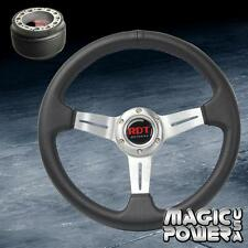 330mm Silver Deep Dish Steering Wheel & Hub Adapter For Honda Accord 1994-2014