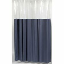 "Carnation Home ""Window"" Vinyl Shower Curtain in Slate"
