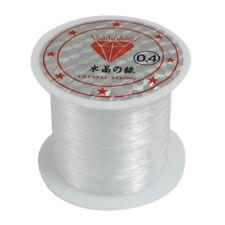 34Lbs 0.4mm Durchmesser Perlen Faden klar Nylon Fisch Angelschnur Spule H1S6