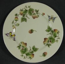 Coalport Strawberry Dinner Plate (Smooth) Bone China England Butterflies Vines