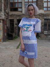 KLEID Surf Club 90er Sailor Oversize TRUE VINTAGE shirt-dress stripes 90s