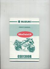 Suzuki GSX1300R Hayabusa (2000 >>) Genuine Owners Manual Book GSX 1300 R-Y CZ21