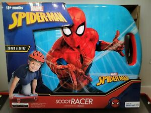 MARVEL Spiderman Scoot Racer Caster Scooter Board Ride-On Roller Casters Outdoor