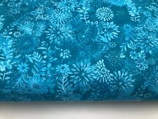 """Turquoise blue floral 108"""" Wide Quilt Backing fabric #135QB, 2 1/3 yards"""