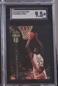 1992 Classic 4 Sport Basketball #1 Shaquille O'Neal SGC 9.5 + SHAQ