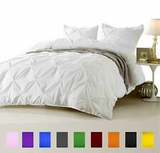1000 TC Egyptian Cotton 3 PC or 5 PC Pinch Pleated Comforter Set White Colors