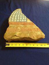 Vtg Folk Art South Carolina SC Patriotic State Natural shape Rock  MYRTLE BEACH