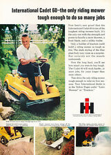 1969 International Cadet 60 mini tractor  Classic Vintage Advertisement Ad H78