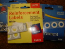 AVERY REINFORCEMENT LABELS - 200 LABELS 5729 LOT OF 3