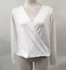 Project Social T Women's Thermal Drew Surplice White XS NWT Urban Outfitters