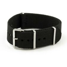 Strap - 20mm/Nylon Black Military-Style Watch