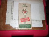 1950's Texaco gas station map of Illinois Iowa and Missouri korean war effort