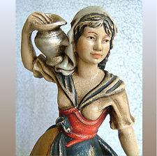 * Wasserträgerin 27 cm * Holzschnitzerei * farbige Fassung * wood carving *