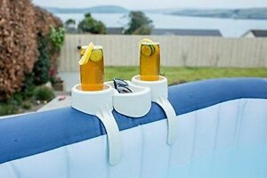 BESTWAY LAY-Z SPA HOT TUB JACUZZI ACCESSORIES 2X CUP DRINKS HOLDER & SNACK TRAY