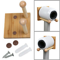 Wood Wall Mount Hanger Holder Bracket Stand For Dyson Supersonic HD01 Hair Dryer