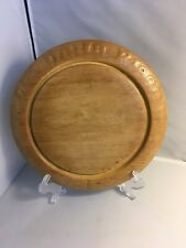 More details for lovely decorative antique carved sycamore bread board - our daily bread 12 inch