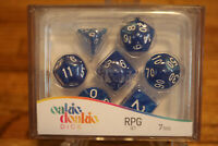 Oakie Doakie Dice RPG Set Life Counter Game Works with Twin Flip`n`Tray Blue