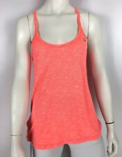 Lorna Jane Sz XS Radah Tank Neon Tangerine Coral Marled Strappy Open Back NWT