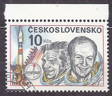 CZECHOSLOVAKIA 1987 USED SC#2653a Stamp INTERCOSMOS, 20th Anniv.