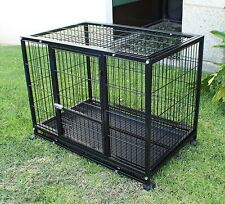"New XXL 42"" Heavy Duty Dog Pet Metal Kennel Playpen Exercise Pen Cage Crate"