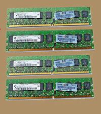 HP 444908-051 Samsung 4GB(4x 1GB) 2Rx8 DDR2 Server Workstation Memory Modules