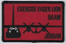 USAF 94th AIR WING PATCH-      'EXERCISE EAGER LION'          'JORDAN'    COLOR