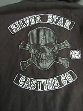 SILVER STAR HOODIE JACKET SIZE XL FURRY LINED FAB DETAIL IMP USA