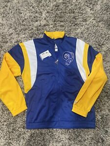 Starter Los Angeles Rams The Contender Track Jacket MED NWT