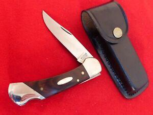Western USA Made 1982 stainless mint 541 mint lockback knife & sheath ld