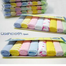 8pcs/Pack Baby Face Washers Hand Towel Cotton Wipe Wash Cloth Feeding Wipe Cloth