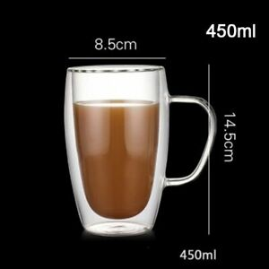 Temperature Resistant And Thick Double Wall Insulated Transparent Espresso Mug