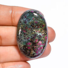 100% Natural Ruby Fuchsite Oval Cabochon Loose Gemstone 58 Ct. 36X24X6 mm D-324