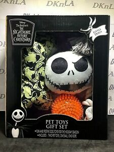 """Disney 4 Piece """"The Nightmare Before Christmas"""" Pet Toy Gift Set for Little Dog"""