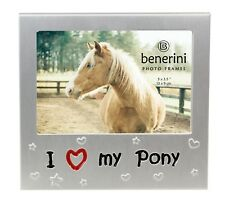 I Love My Pony Horse Photo Picture Frame Gifts Pet Animal Lover Christmas 5x3.5""