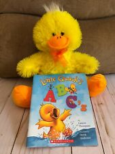 Learn Your A B C 's With Little Quack By Lauren Thompson + Soft Stuffed Duck Toy