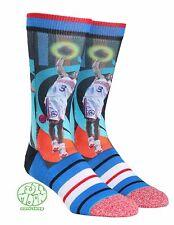 New NBA Philadelphia 76ers Allen Iverson Legends Trading Card Stance Crew Socks
