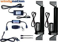 WindyNation 2pcs 12V Linear Actuator + Power Supply + Remote Control + Brackets