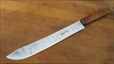 Antique Sabatier SEAL LOGO Chef's XL Hand-forged Carbon Steel Butcher Knife